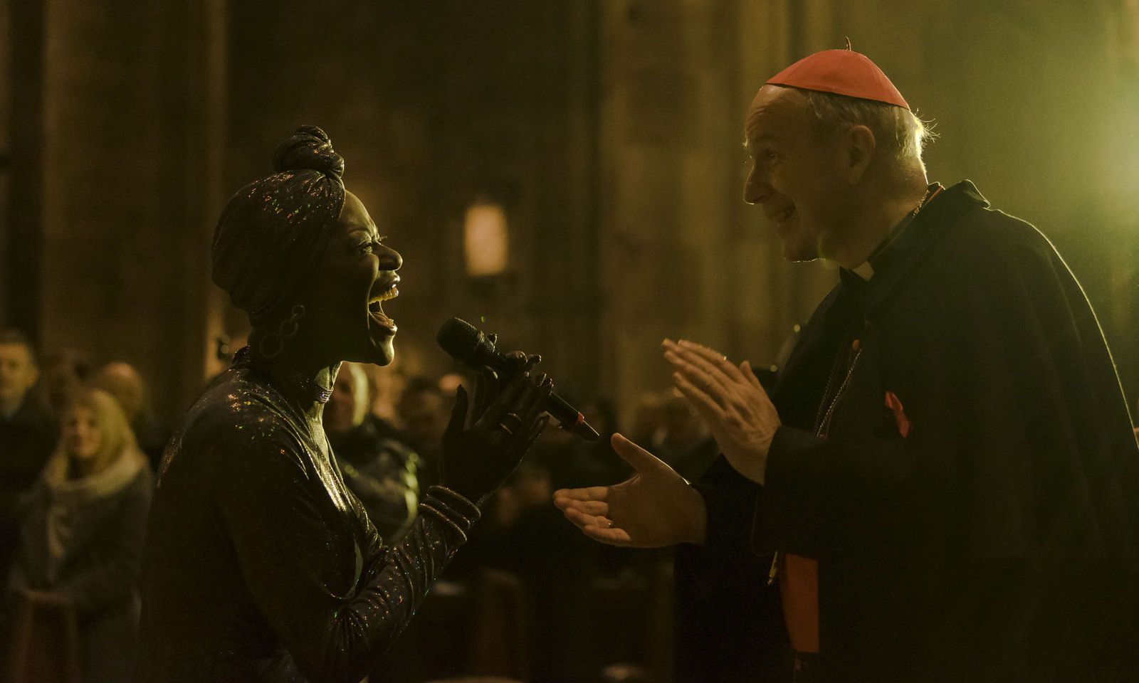 Kardinal Schönborn und Dorretta Carter