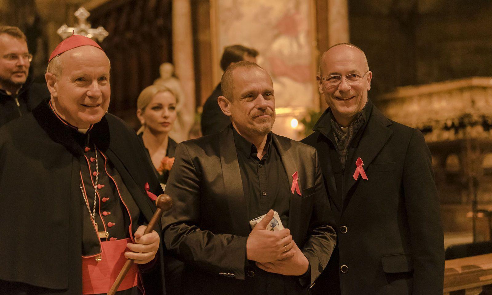 Kardinal Christoph Schönborn, Gery Keszler und Toni Faber