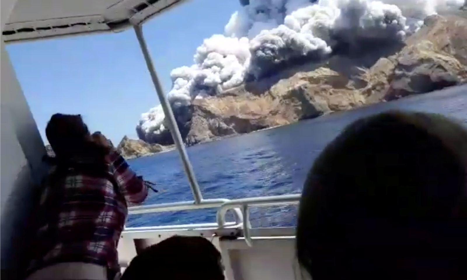 Der Vulkanausbruch auf der neuseeländischen Insel White Island forderte vermutlich mehr als 20 Menschenleben.