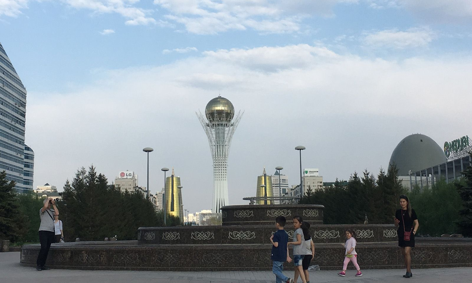 Mitten in der jungen Hauptstadt Nursultan.
