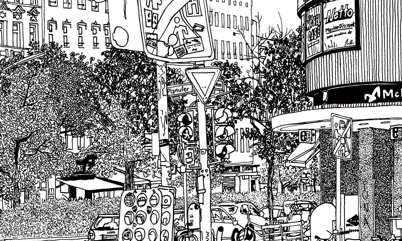 Filzstift. Der Schweizer Ingo Giezendanner legt zeichnerisch urbane Codes frei.