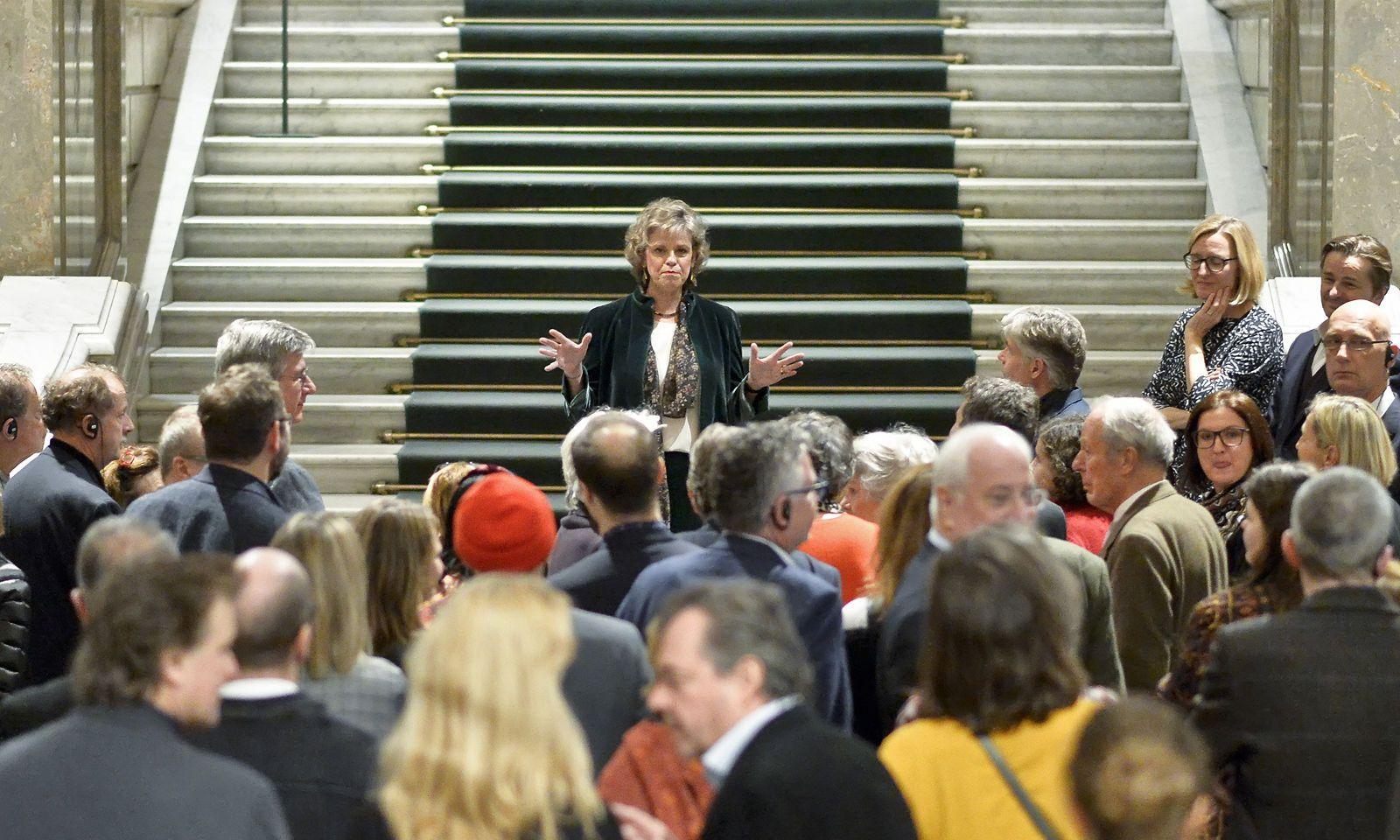Sabine Haag im Jänner 2019 am letzten Tag der Bruegel-Ausstellung im Kunsthistorischen Museum.