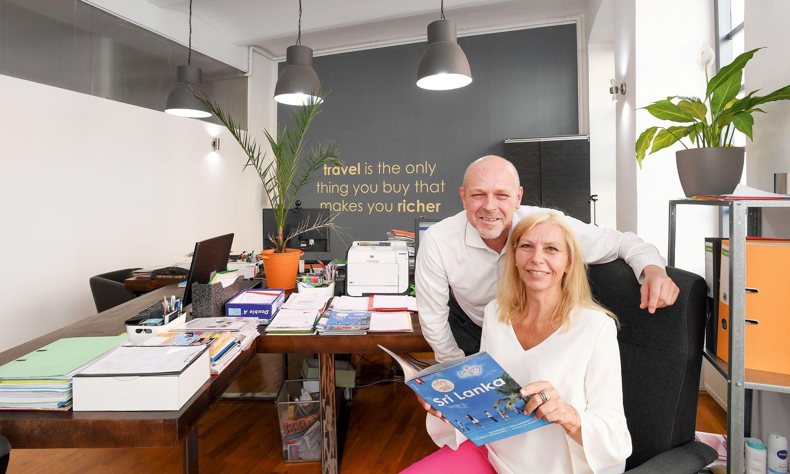 Reisen ist Passion und Profession: Richard und Silvia Senft von enjoy Reisen.