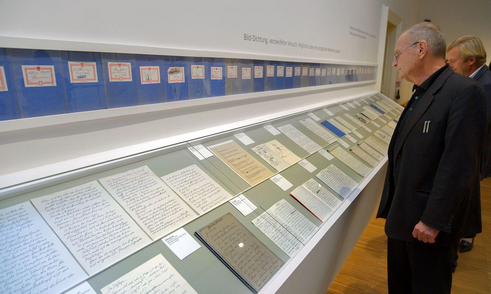 Günter Brus. Der als Aktionist berühmt gewordene Künstler hat dem Grazer Universalmuseum Joanneum seinen literarischen Vorlass überlassen.