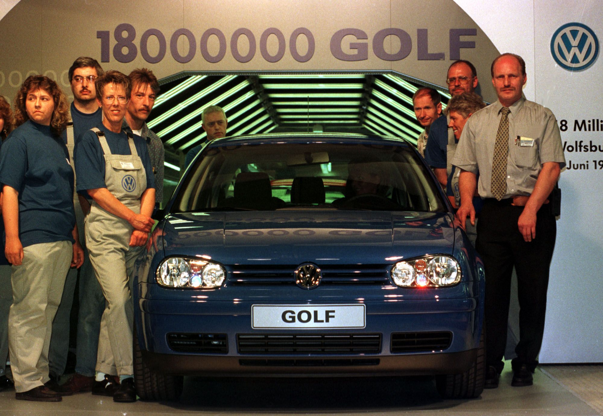 Feier bei der Produktion des 18.000.000sten Golf