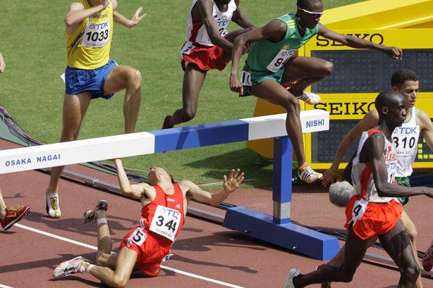 Weidlingers Sturz bei der WM 2007.