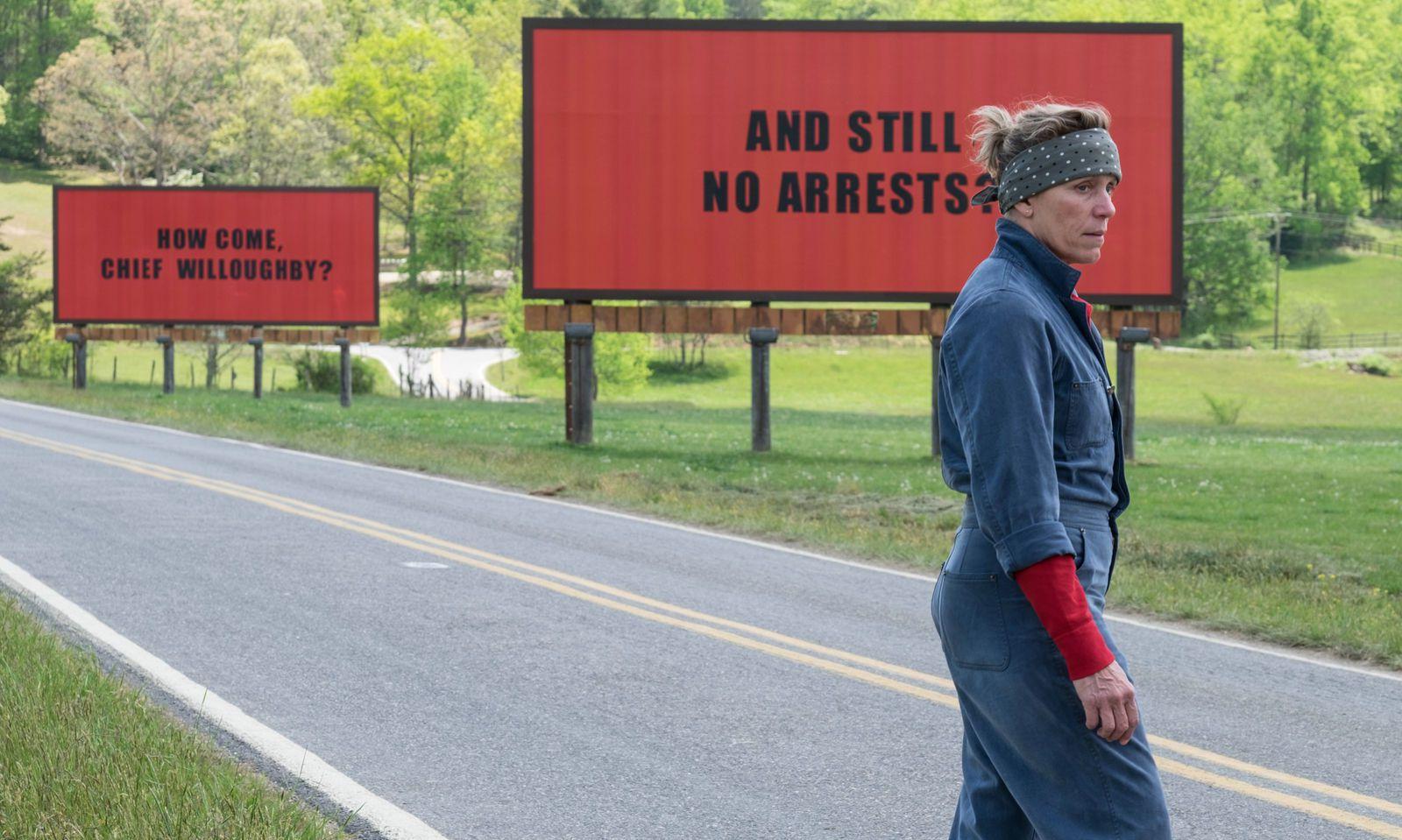 "Frances McDormand in ""Three Billboards Outside Ebbing, Missouri"""