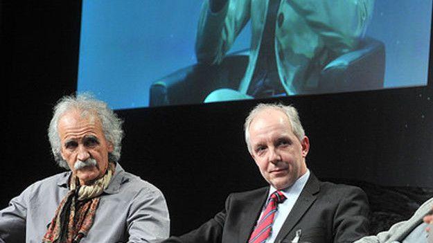 Jean-Pierre Bibring (li). und Stephan Ulamec