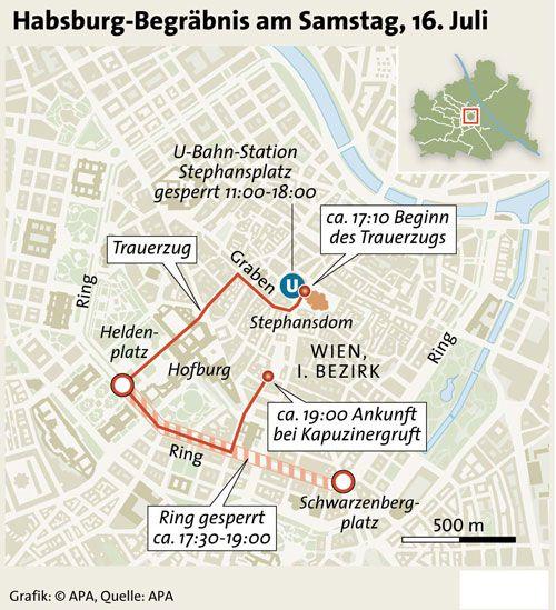 Habsburg-Begräbnis am Samstag
