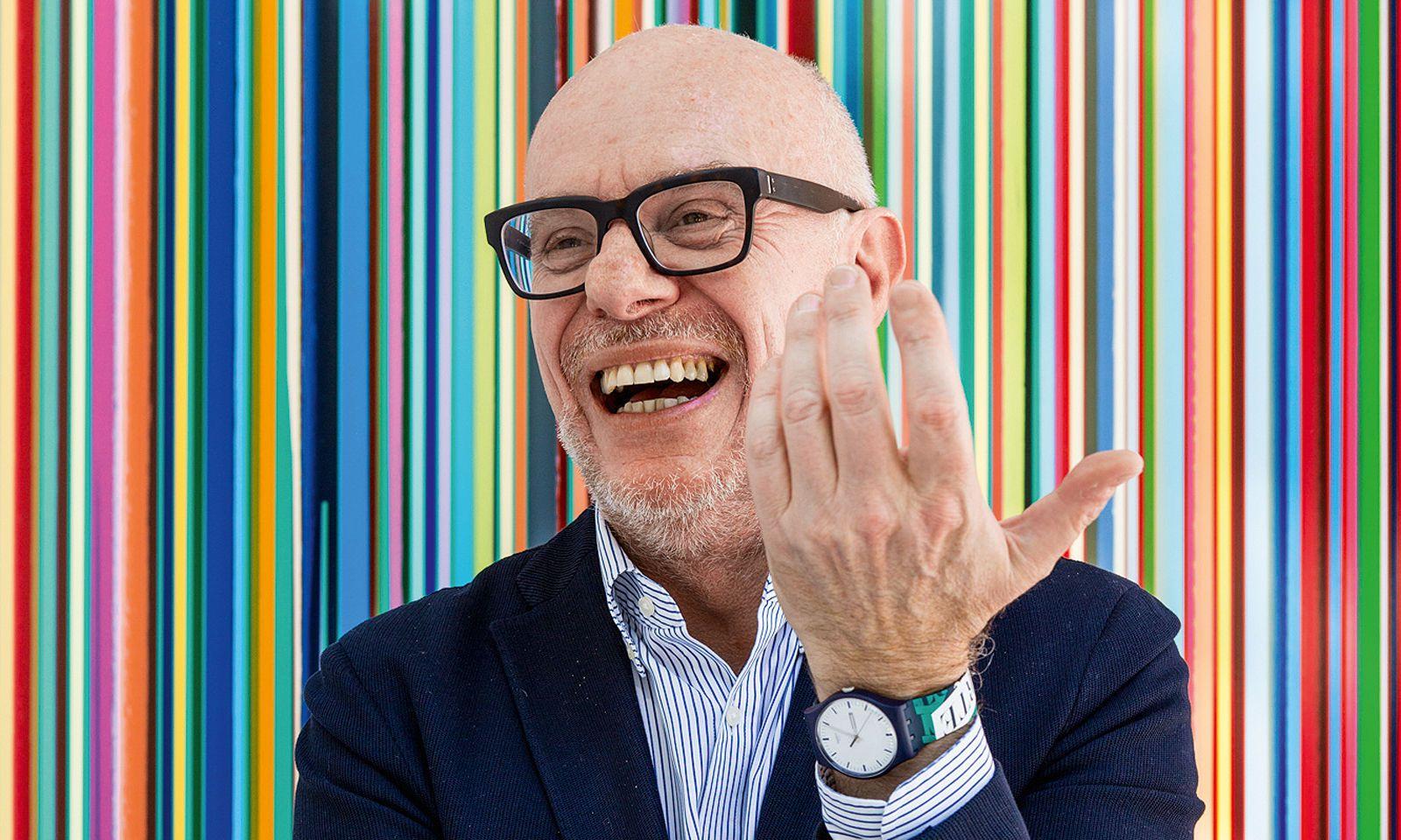 Visionär. Carlo Giordanetti ist seit 2012 Swatch-Kreativdirektor. busam doluptati bl