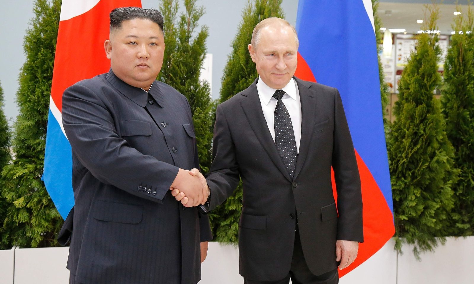 Zuerst steht ein Vier-Augen-Gespräch zwischen Kim und Putin auf dem Programm.