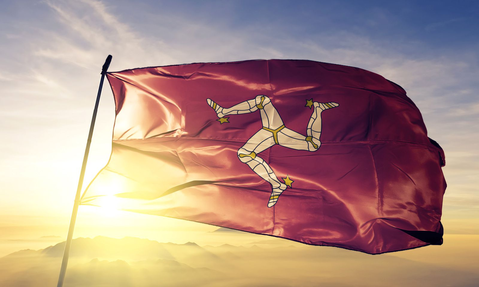 "Die ""Triskele"", die Fahne, die Wehrhaftigkeit symbolisiert"