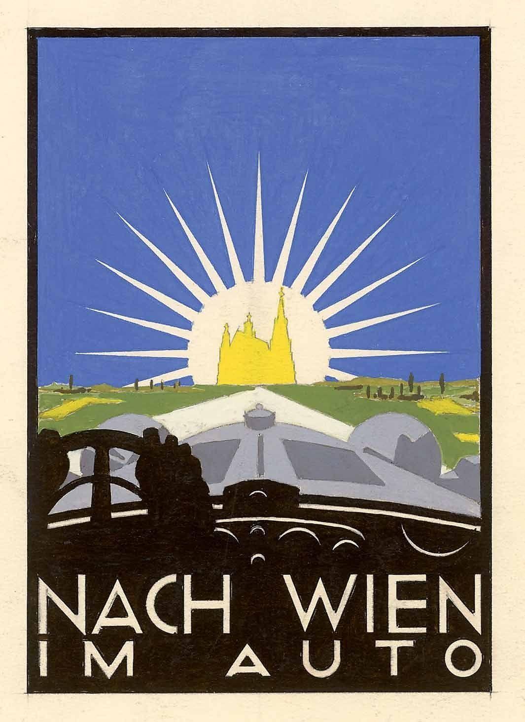 """Werbepublikation """"Nach Wien im Auto"""""""