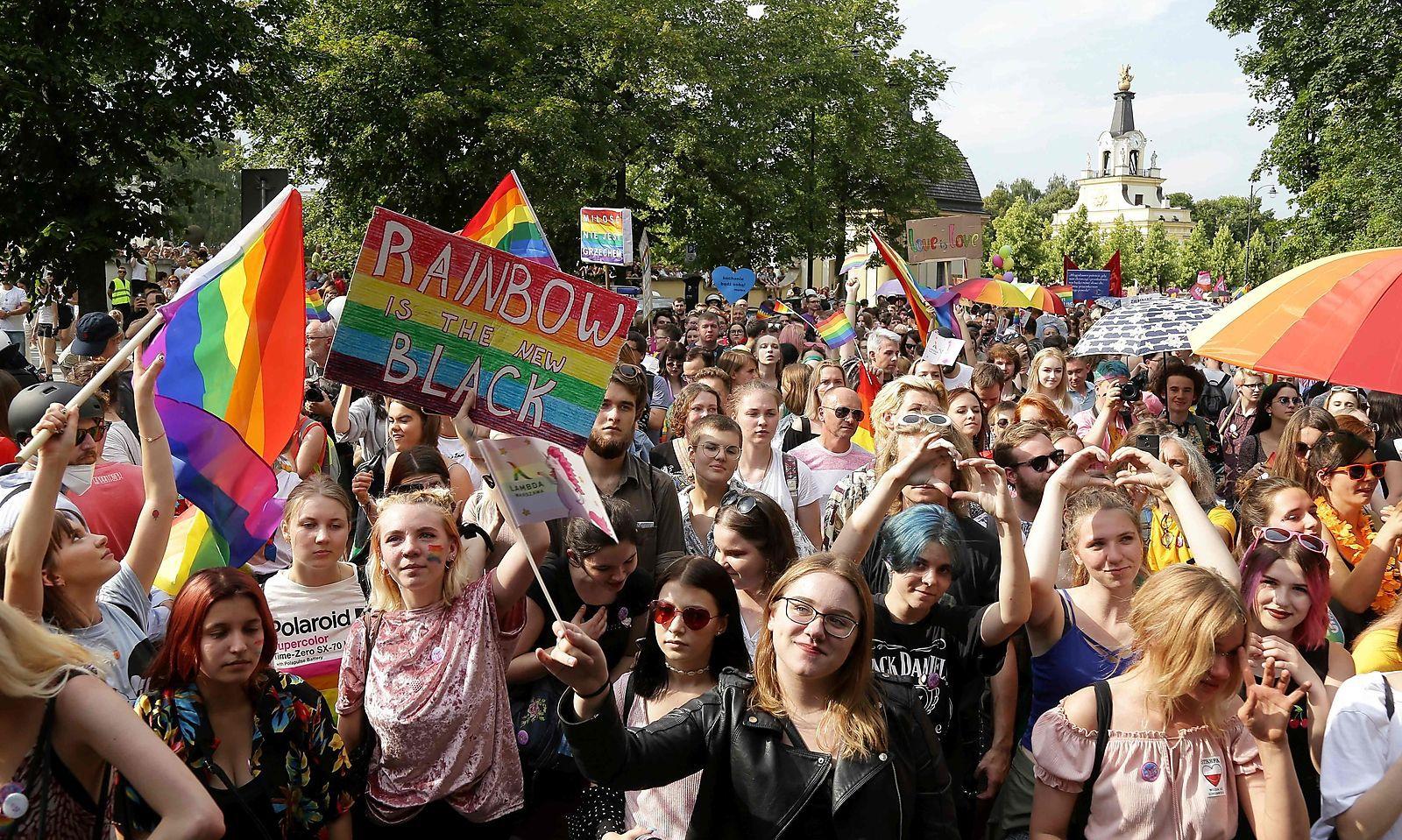 Viele junge Menschen waren auf der Demonstration.