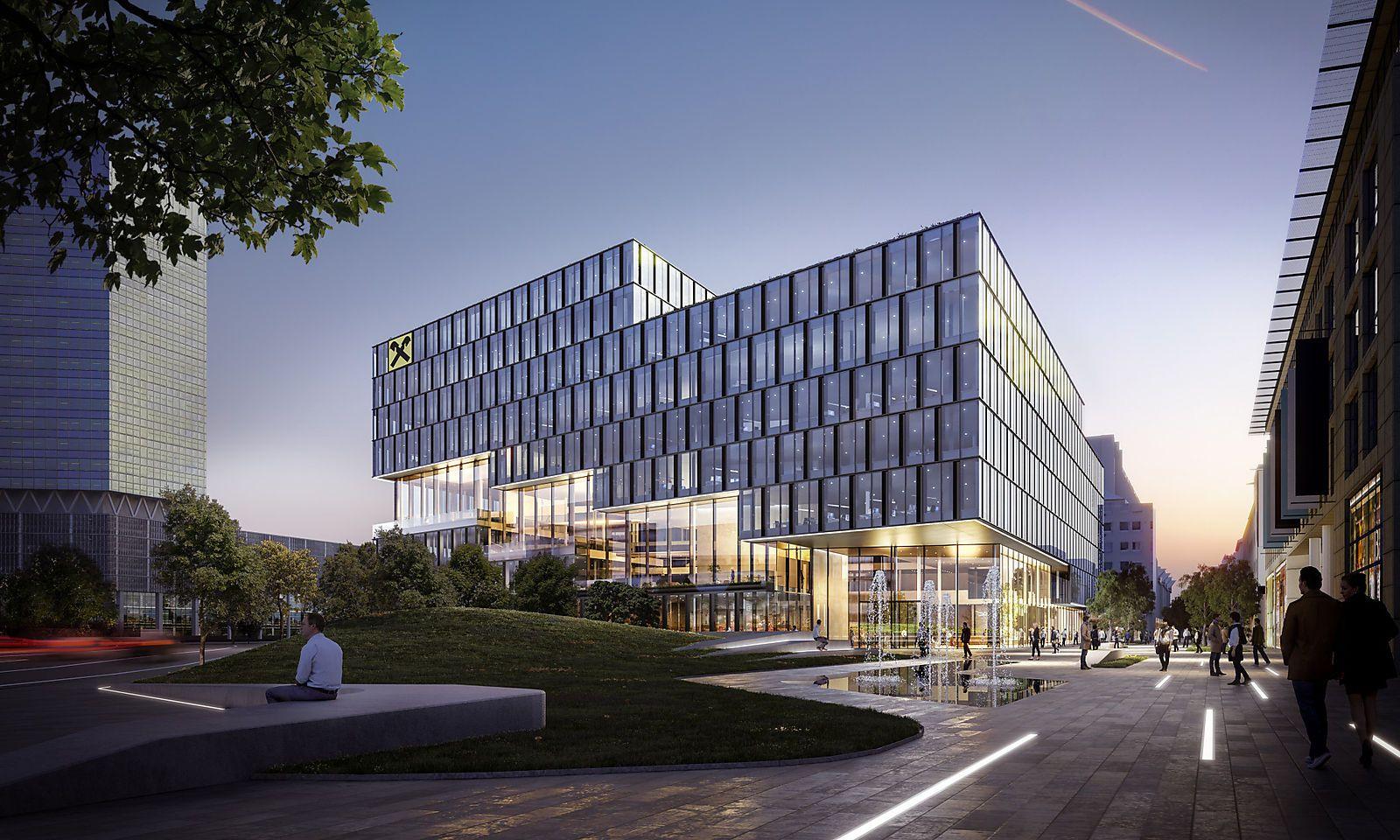 Geplante neue Konzernzentrale in Linz.