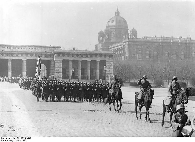 Wien, Parade des Bundesheeres anno 1930
