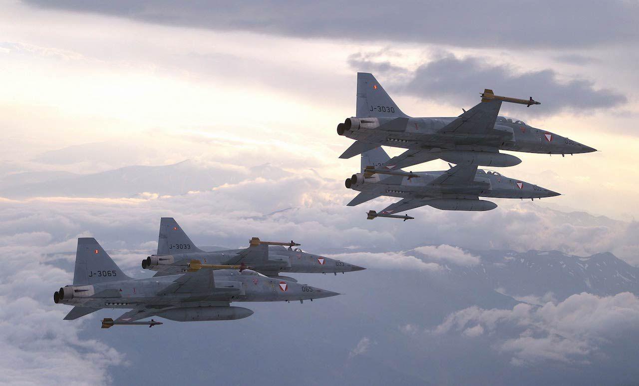 """Schon vergessen? Das waren die F-5 """"Tiger II"""", die uns die Schweizer vermietet hatten."""