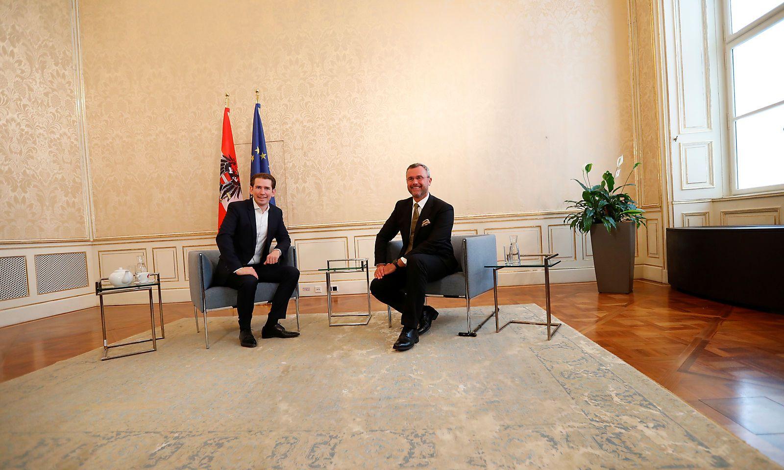 Head of OeVP Kurz meets head of FPOe Hofer in Vienna