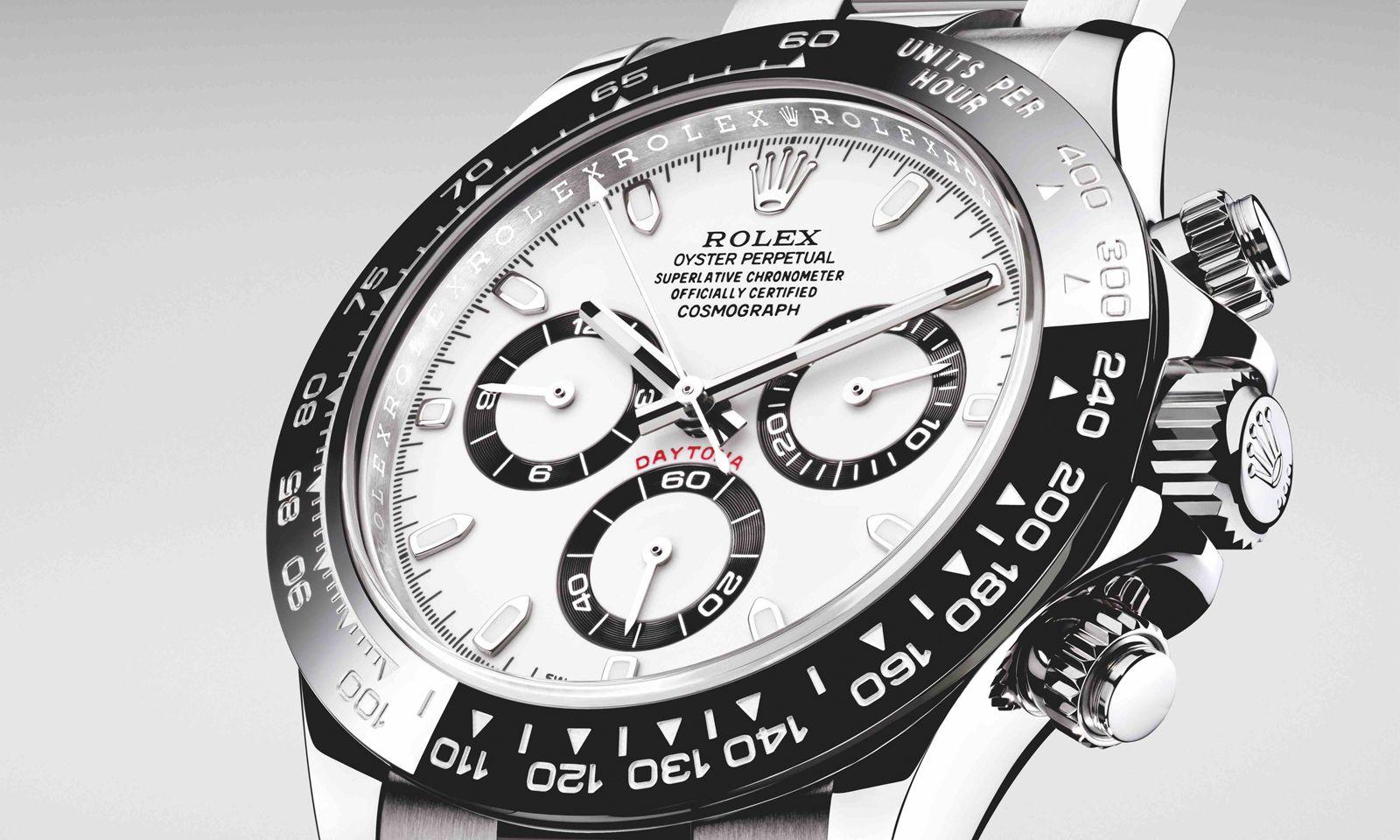 """Neue Preise. Rolex verlangt für seine """"Daytona"""" aus Edelstahl statt 11.350 seit diesem Jahr 12.400 Euro – sofern man das begehrte Stück überhaupt ergattert."""