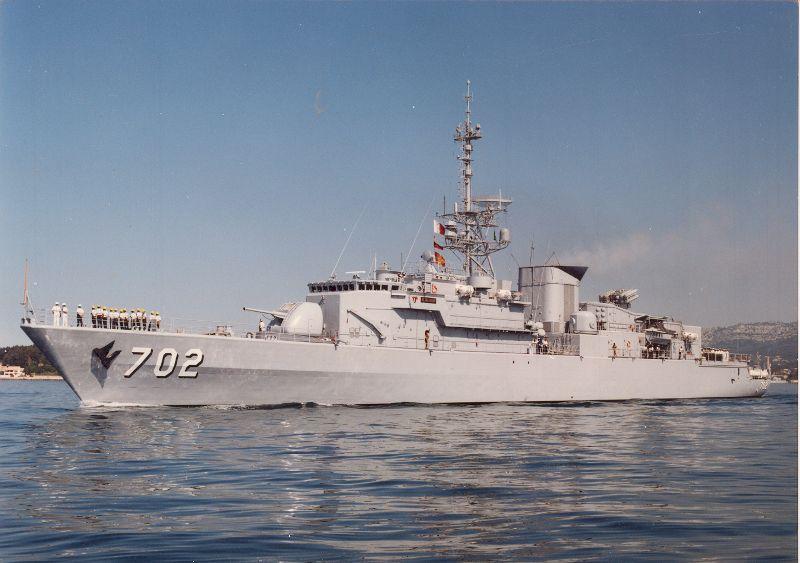 """Die Fregatte """"Al Madinah"""", Typschiff der gleichnamigen Klasse"""