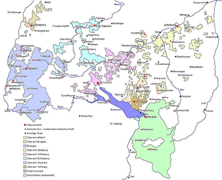 Vorderösterreich und Vorarlberg 1780