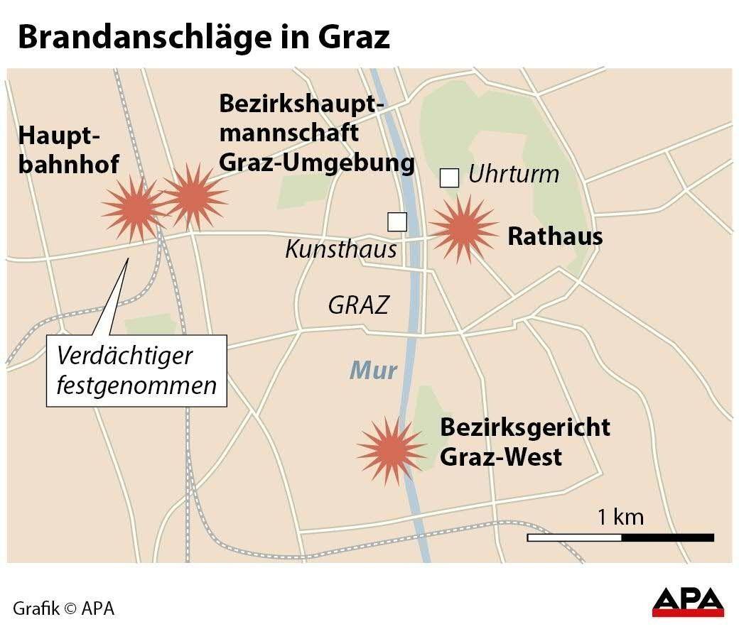 Brandanschläge in Graz