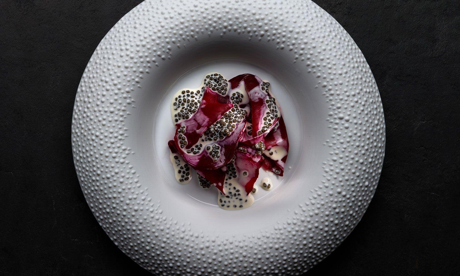 Rote Rübe mit Kaviar