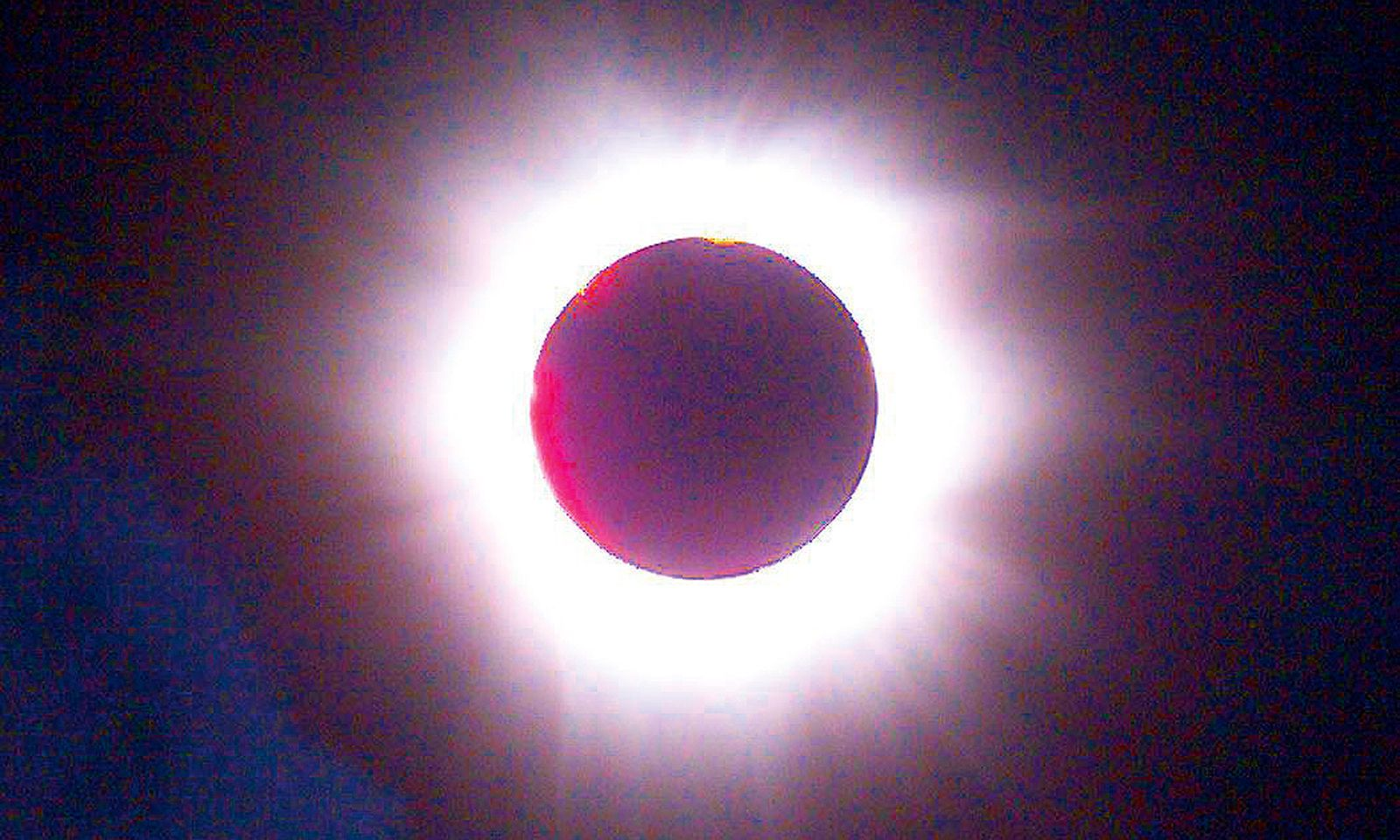 Ringförmige Sonnenfinsternis.