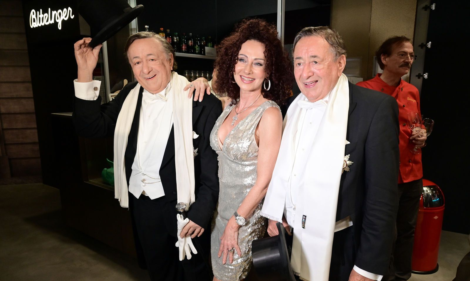 Von links nach rechts: Richard Lugner, Christina 'Mausi' Lugner, Richard Lugner
