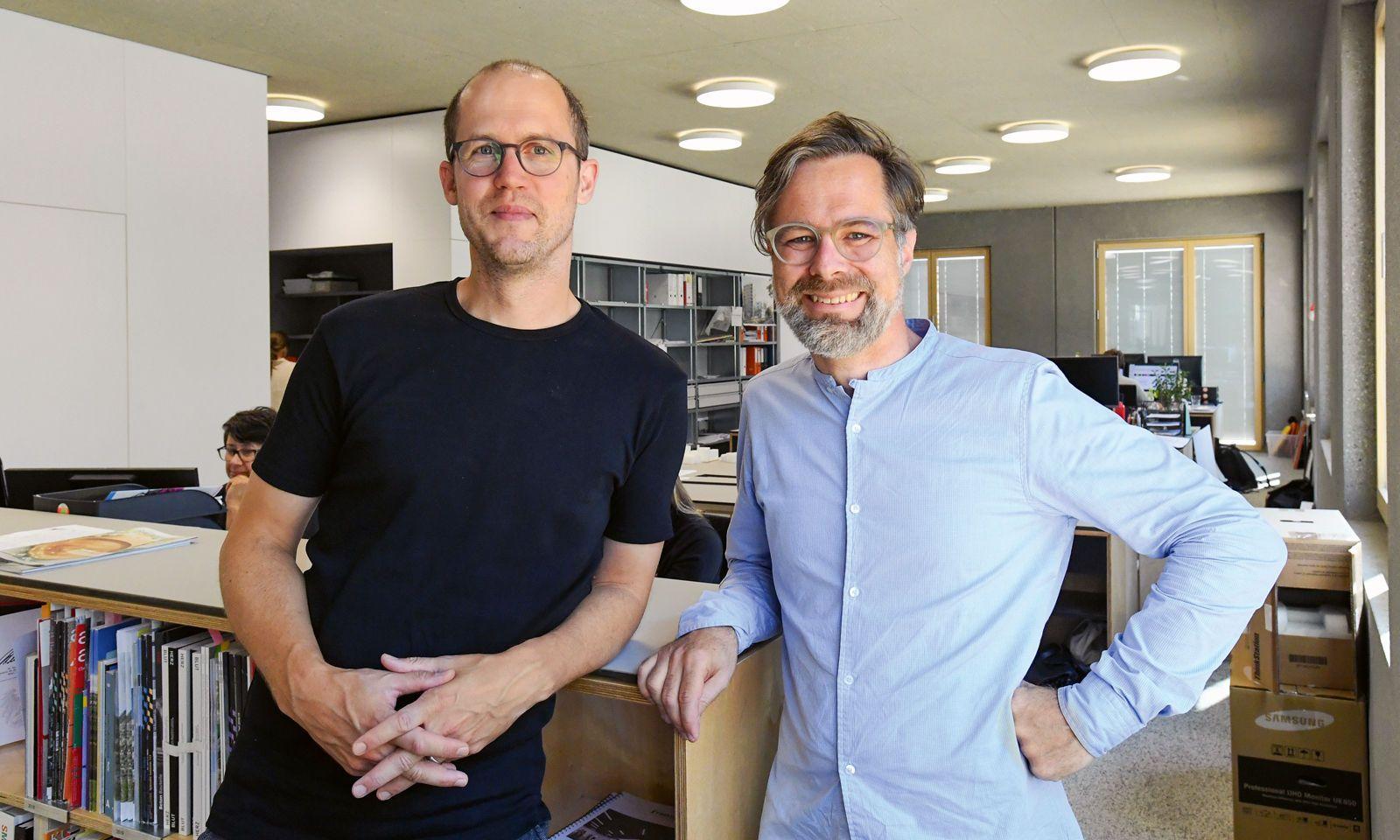 Robert Diem (links) und Christian Ambos, geschäftsführende Gesellschafter und Mitbegründer von Franz&Sue.