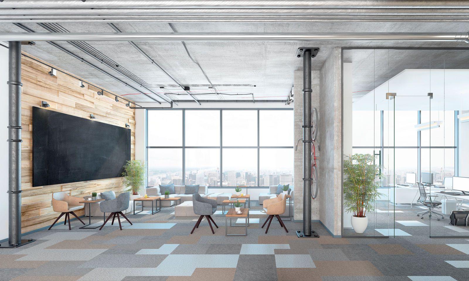Lounge, Büro, Besprechungsraum? Gesucht sind Flächen, in denen neue Arbeitskonzepte gut dargestellt werden können.