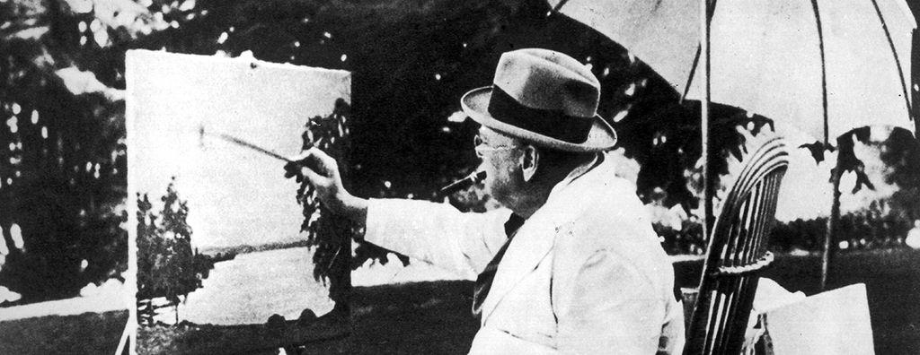 Churchill als Hobbymaler in der Schweiz 1946