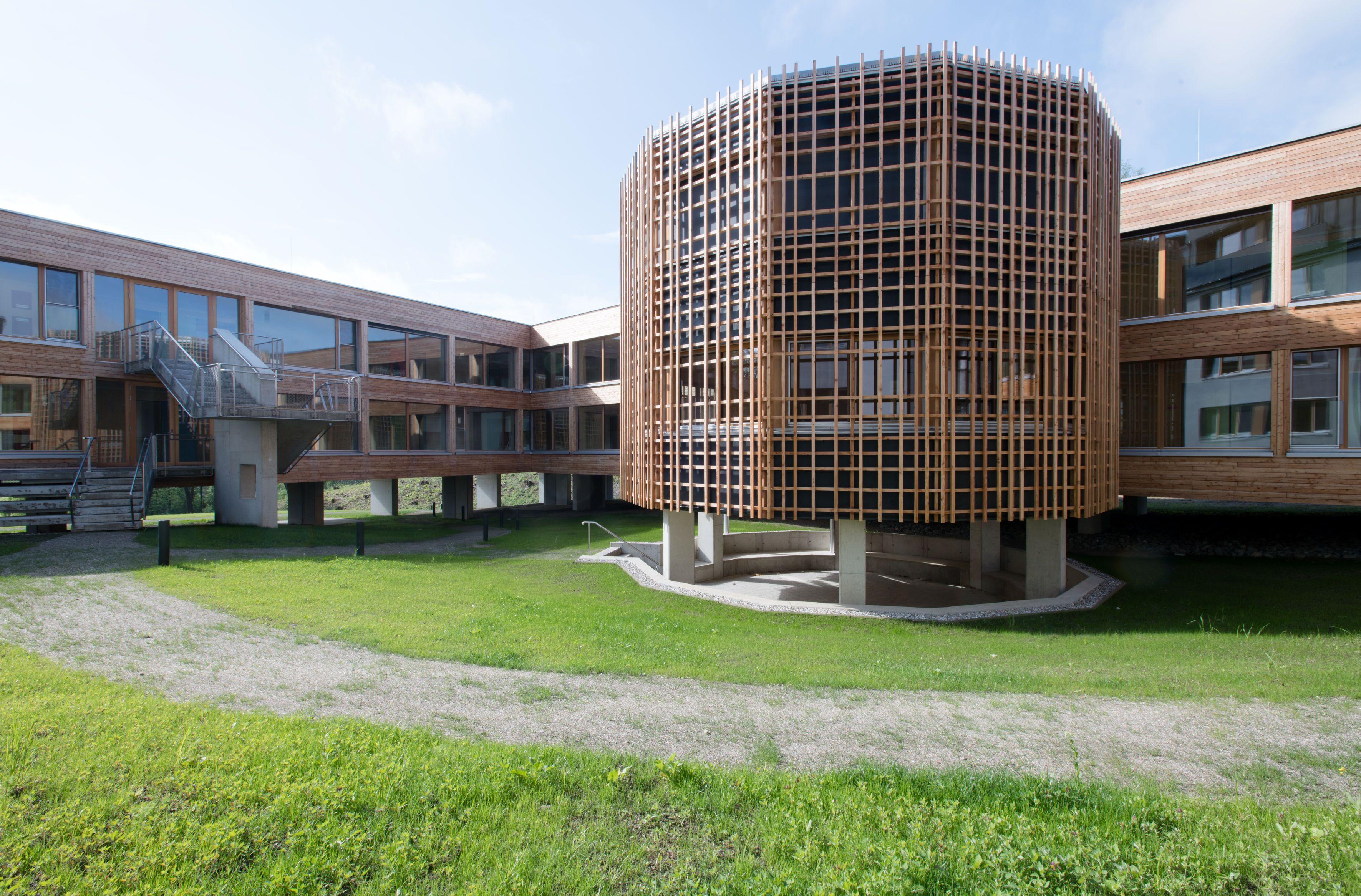 Das Innovationszentrum des Handeslunternehmers Hofer in Eberstalzell.