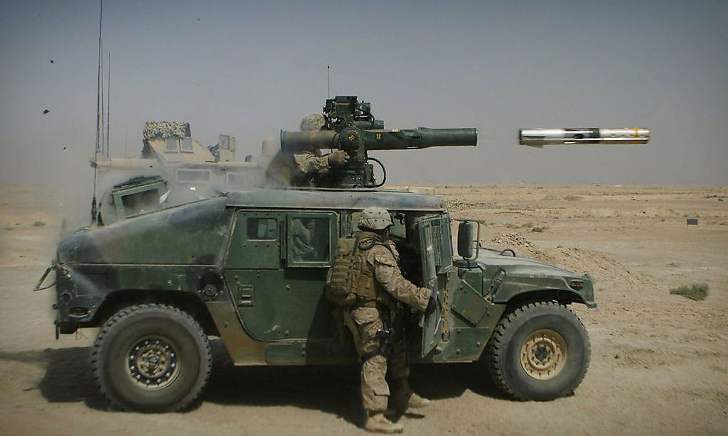 TOW auf einem Humvee der US-Marines