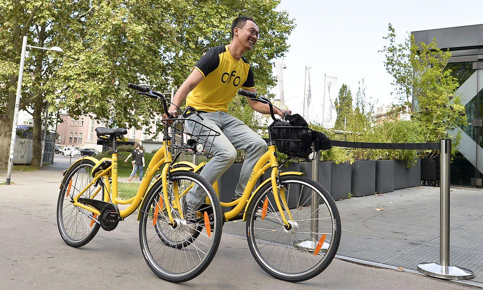 Zunächst 200 Leihräder im Gratis-Testbetrieb