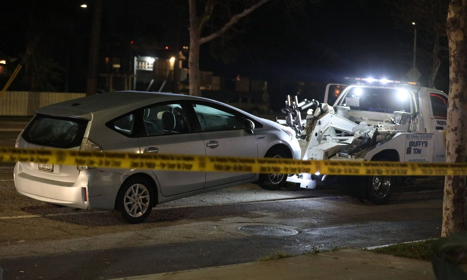 Ort des Unfalls: Venice Boulevard am Freitag Abend