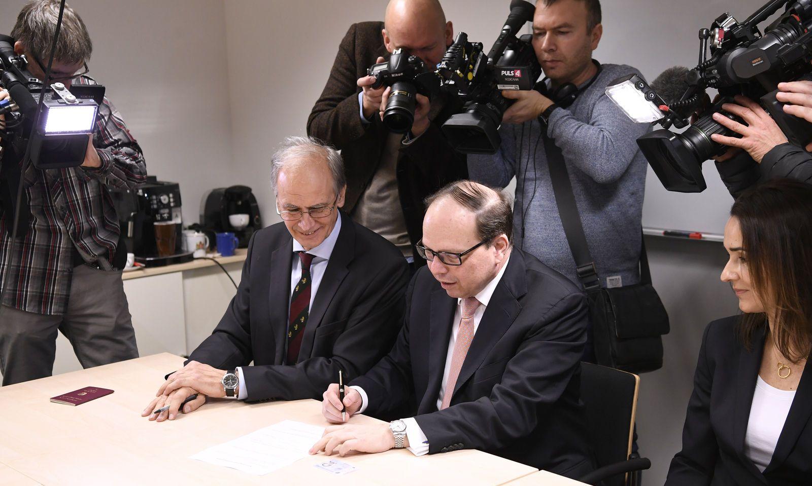 Ärztekammerpräsident Thomas Szekeres und der Präsident der Österreichischen Krebshilfe, Paul Sevelda