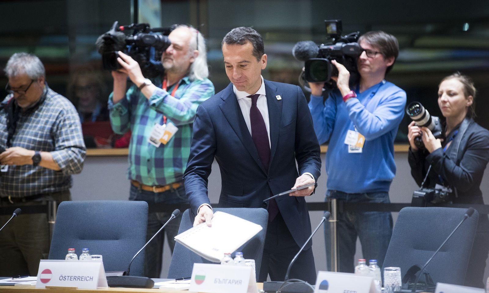 Bundeskanzler Christian Kern in Brüssel.
