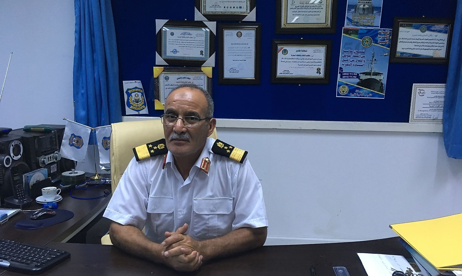 Commodore Ayob Omar Ghassem von der libyschen Marine.