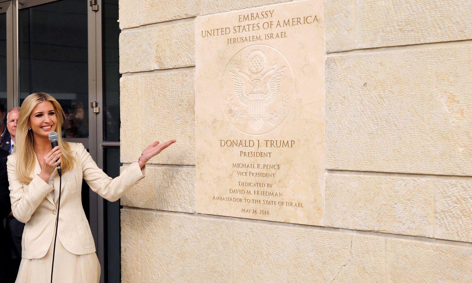 Feier in Jerusalem. Ivanka Trump, die Tochter des US-Präsidenten, bei der Eröffnung der neuen US-Botschaft.