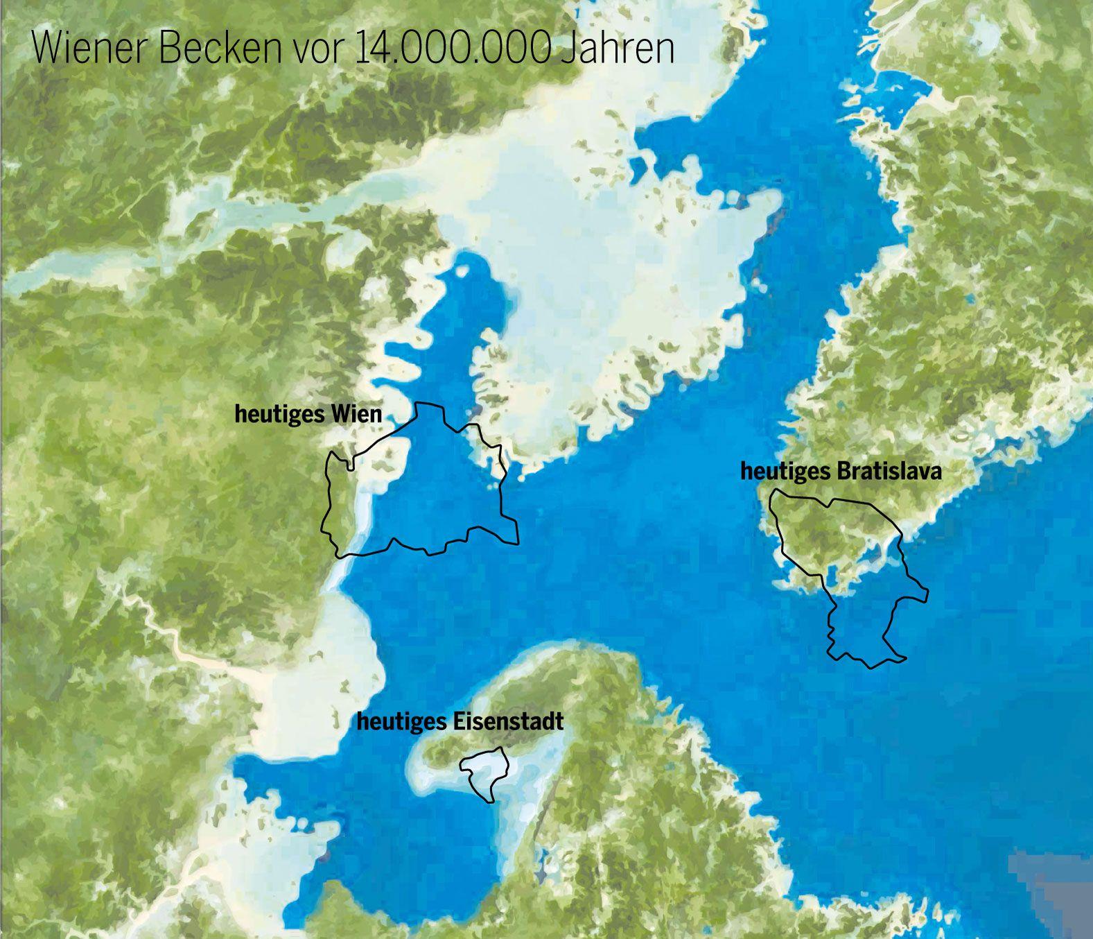 Das Wiener Becken vor 14.000.000 Jahren.