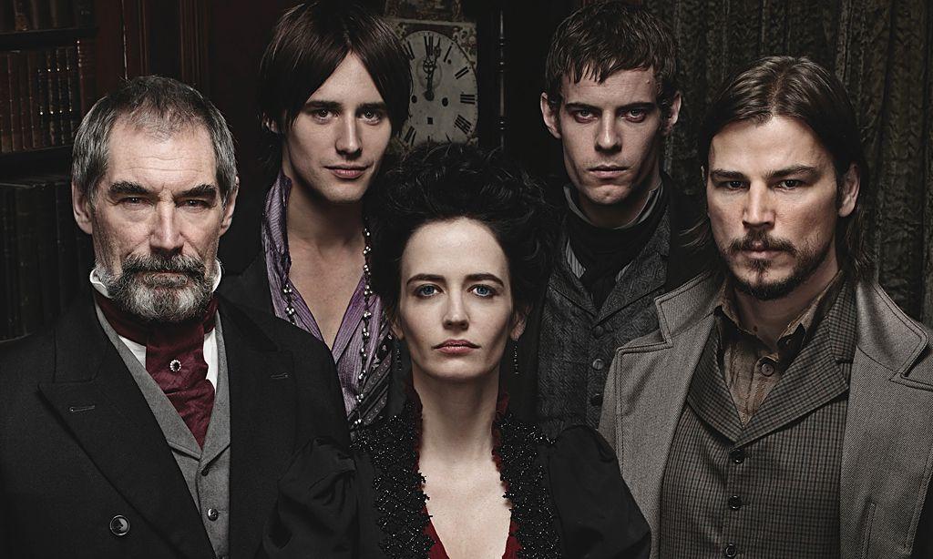Das Personal in Penny Dreadful: Sir Malcolm Dorian Gray, Vanessa Ives, Vitor Frankenstein und Ethan Ethan Chandler