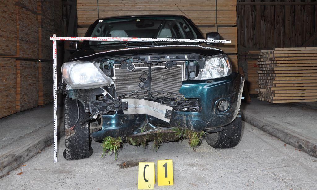 Das Auto des Täters.