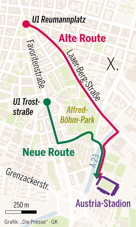 Die neue Route