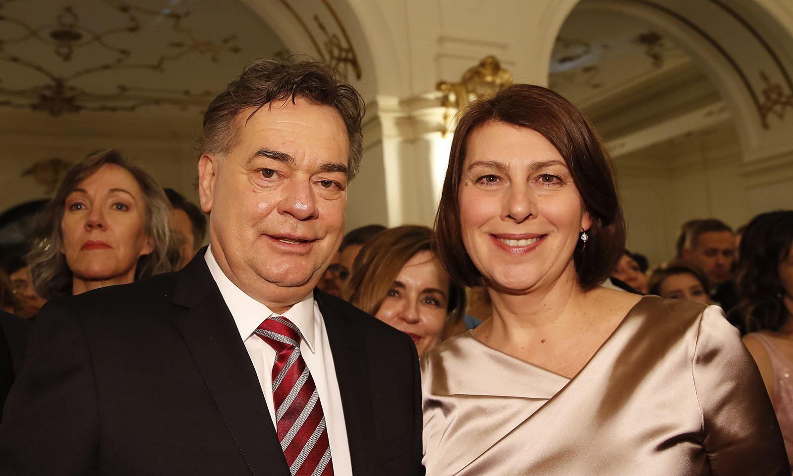 Vizekanzler Werner Kogler (Grüne) kam mit Sabine Jungwirth (Grüne Wirtschaft).