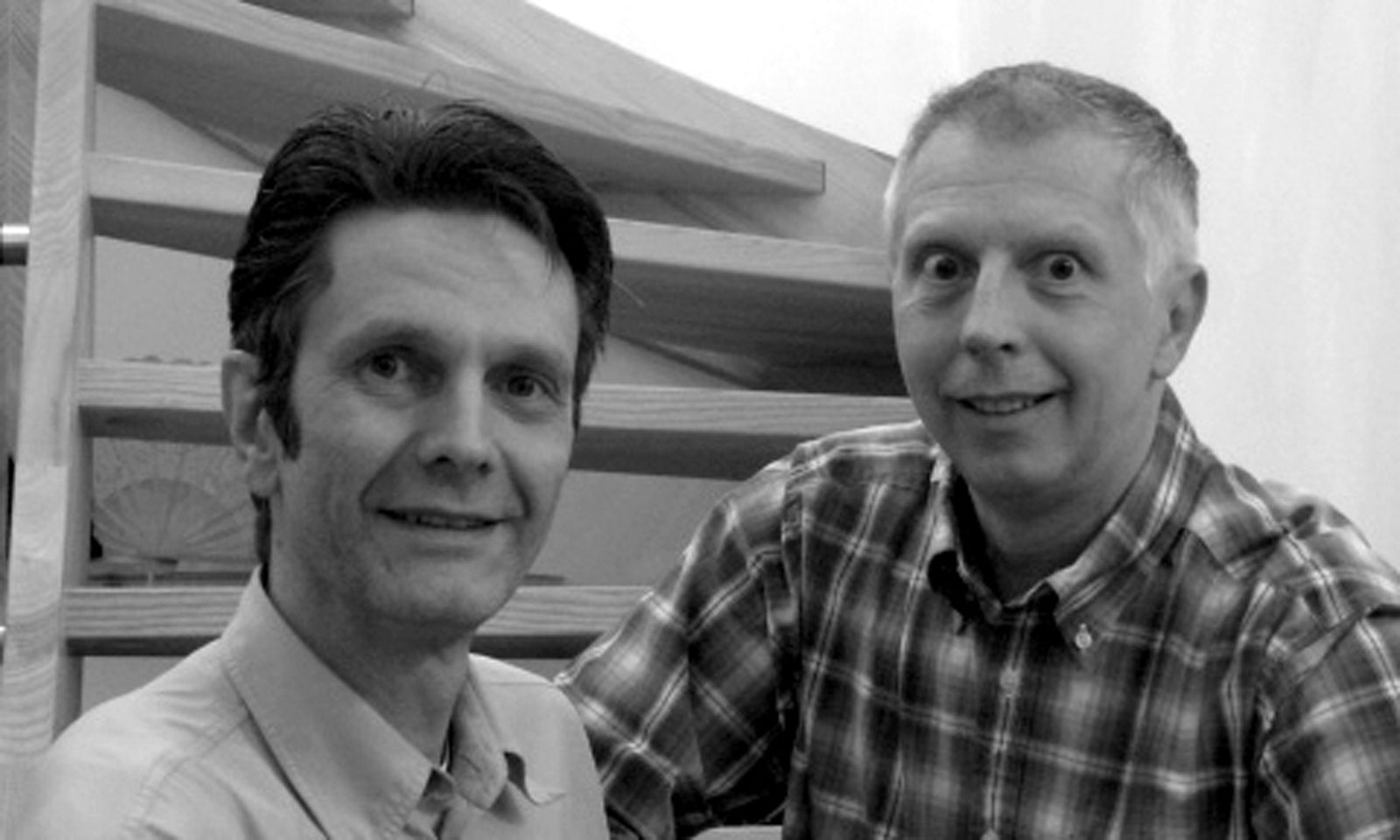Teamarbeit. Norbert Tlusti und Geschäftspartner Peter Šramek.