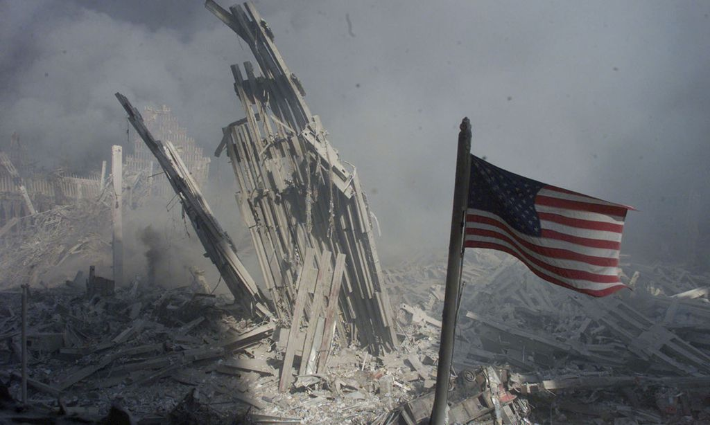 Spekulationen über eine kontrollierte Sprengung. New York 11.9.2001