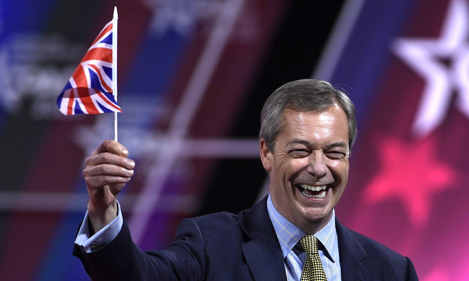 Bad Boy of Brexit: Europagegner Nigel Farage.