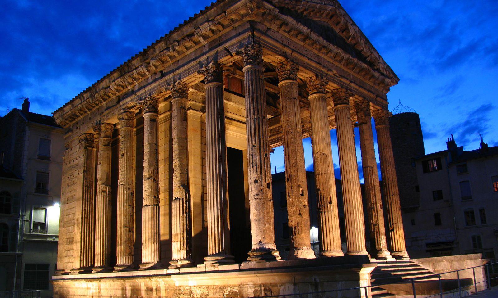 Der römische Tempel in Vienne.
