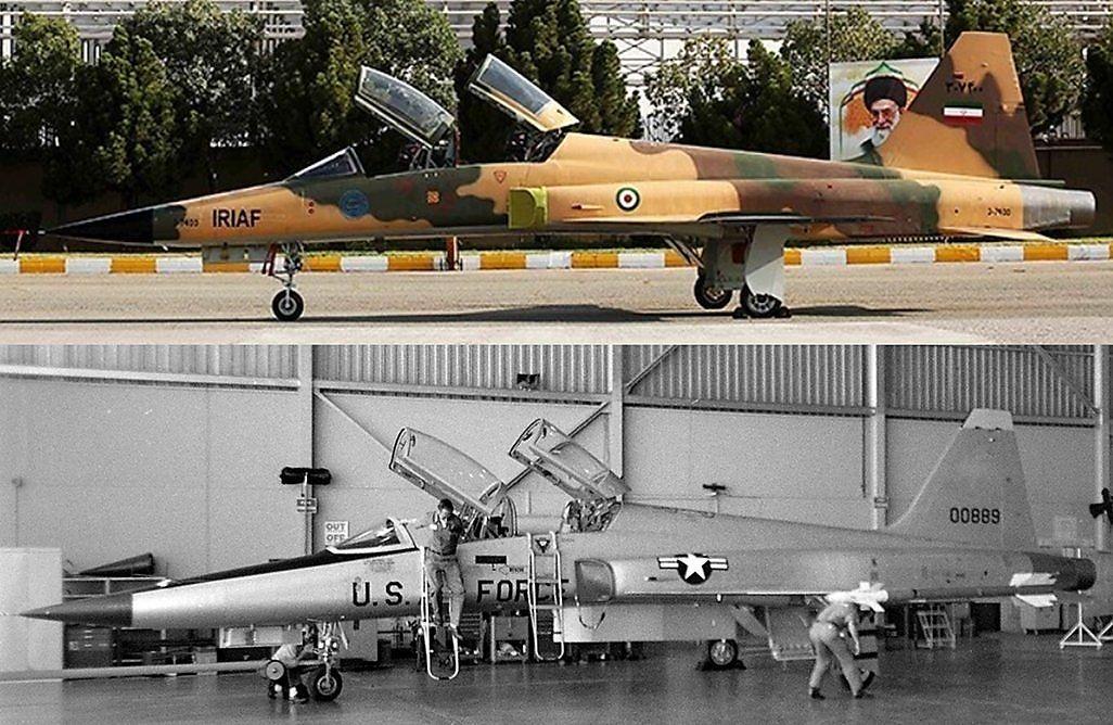 """""""Kosar""""-Prototyp im Iran heute und F-5E in den USA damals"""